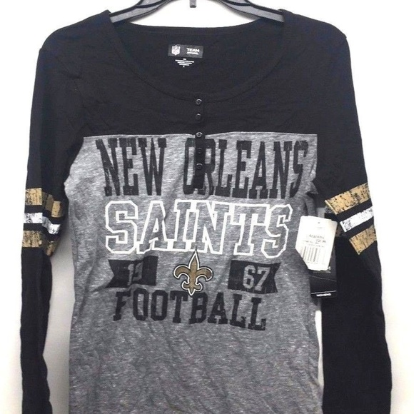 best website c5732 247d1 Team Apparel Women's New Orleans Saints Shirt Sz S NWT